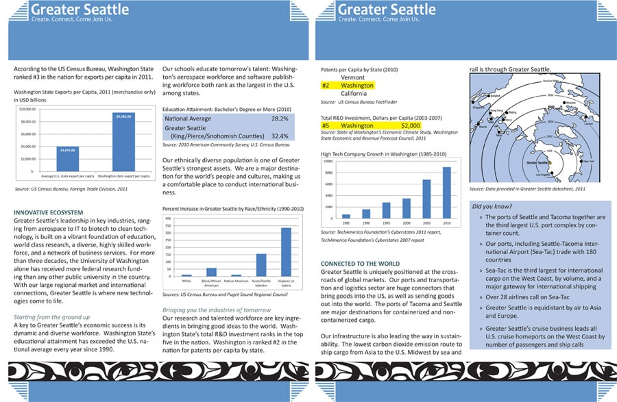 Greater Seattle brochure inside