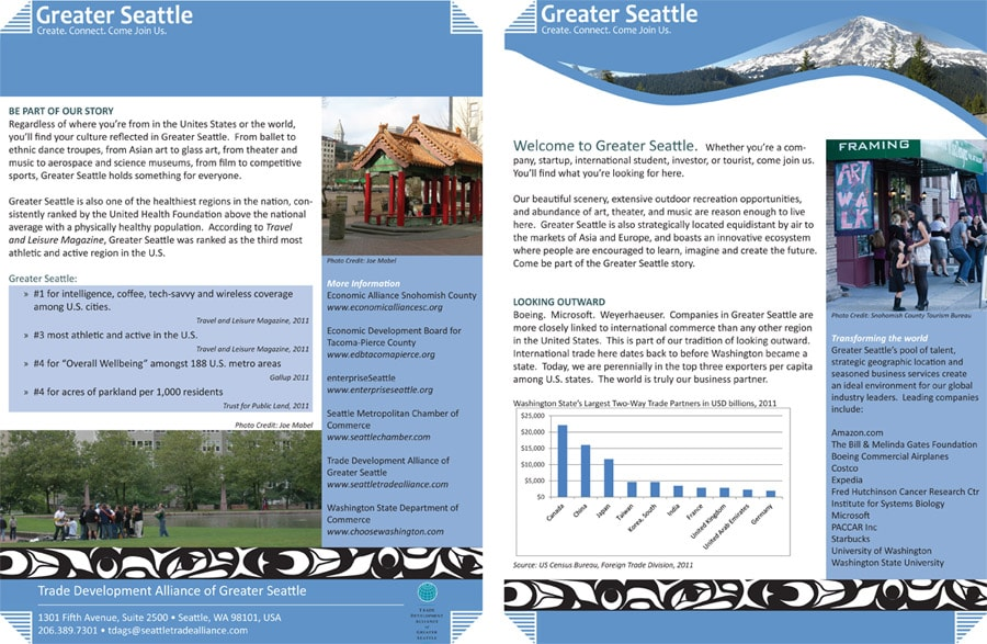 Greater Seattle brochure outside