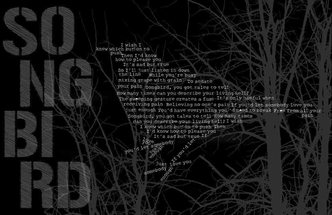 Typographic Songbird poster full size